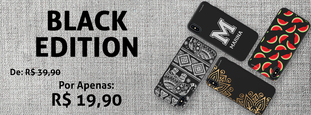 Capas Black Edition com 50% OFF