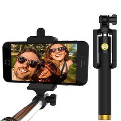 Bastão para Selfie Retrátil com Botão Embutido via Cabo P2