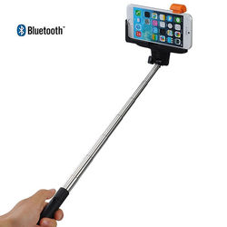 Bastão para Selfie Retrátil com Controle Bluetooth Embutido para iOS e Andriod - Cores