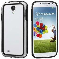 Bumper para Galaxy S4 Mini i9190 de TPU com Plástico - Preto com Transparente