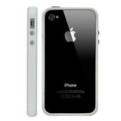 Bumper para iPhone 4 e 4S de TPU - Branco