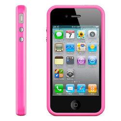 Bumper para iPhone 4 e 4S de TPU - Rosa