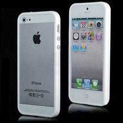 Bumper para iPhone 5 e 5S de TPU - Branco