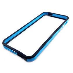 Bumper para iPhone 5 e 5S de TPU - Preto com Azul