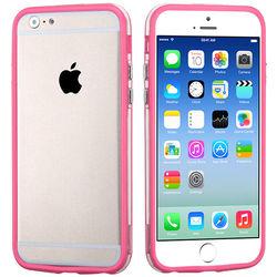 Bumper para iPhone 5C de TPU - Rosa com Transparente