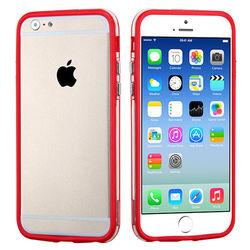 Bumper para iPhone 5C de TPU - Vermelho com Transparente