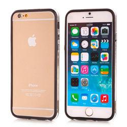 Bumper para iPhone 6 e 6S de TPU - Dual Color | Transparente Com Preto