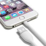 Cabo de dados para iPhone e iPad Lightning 30cm - Hrebos | Branco