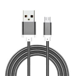 Cabo de dados para Samsung Entrada Micro USB de 2 metros - Aço | Hrebos