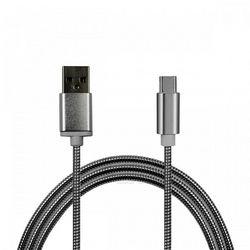 Cabo de dados USB 2.8A TIPO C de 2 metros - Aço | Hrebos