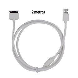 Cabo para iPhone 4 e 4S USB de 2 metros - Kingo   Branco