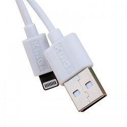 Cabo para iPhone e iPad Lightning - KinGo | Branco