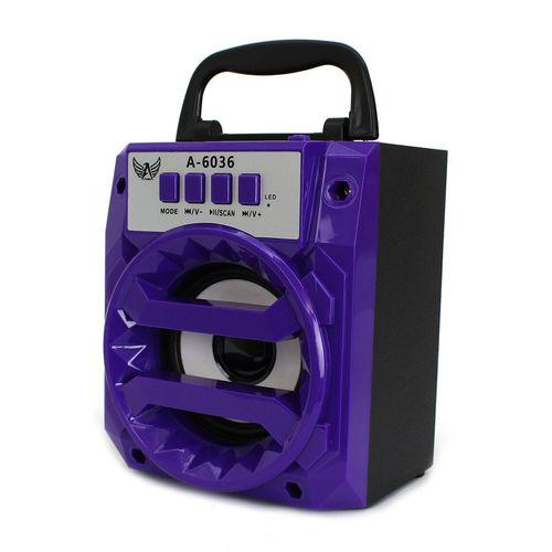 Caixa de Som Bluetooth A-6036 - LTOMEX | Cores