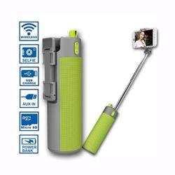 Caixa de Som Bluetooth com Bastão de Selfie