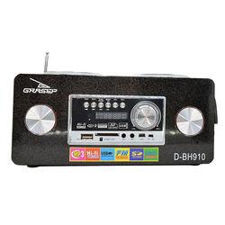Caixa de Som Bluetooth D-BH910 - Grasep | Preta