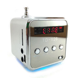 Caixa de Som Portátil com Rádio FM, MP3, USB e entrada para Cartão Micro SD