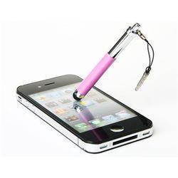 Caneta Stylus para Smartphone e Tablet Compacta com Plug Fone de Ouvido - Rosa