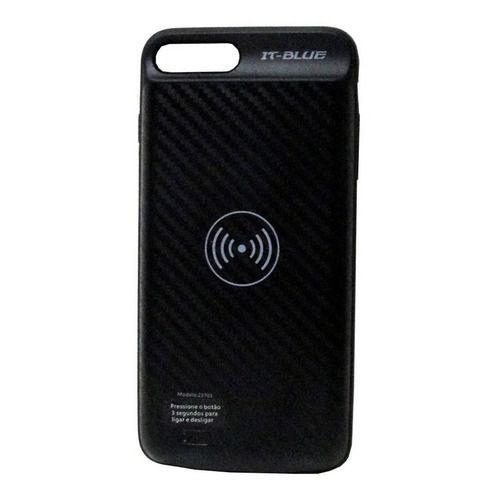 Capa Carregadora Para iPhone 6 e 6S, iPhone 7 e iPhone 8 - Preto | It-Blue