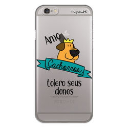 Capa para celular - Amo Cachorros, Tolero Seus Donos.