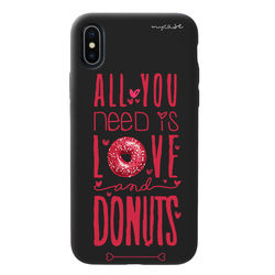 Capa para celular Black Edition - All you need is love and donuts