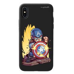 Capa para celular Black Edition - Avengers | Capitão América