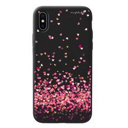 Capa para celular Black Edition - Corações 4