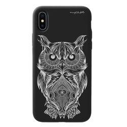 Capa para celular Black Edition - Coruja Branca