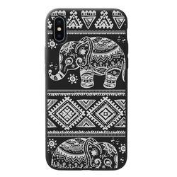 Capa para celular Black Edition - Elefante mosaico