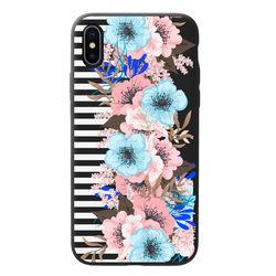 Capa para celular Black Edition - Flores com Listras