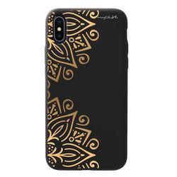 Capa para celular Black Edition - Mandala Dourada