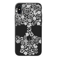 Capa para celular Black Edition - Skull flower