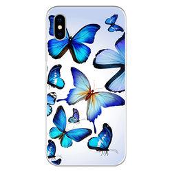 Capa para Celular - Borboletas   Azuis