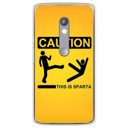 Capa para Celular - Caution This Is Sparta