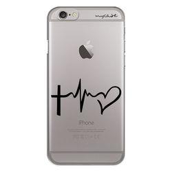 Capa para celular - Cruz e Coração