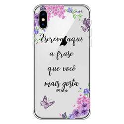 Capa para celular - Flores | Com Frase