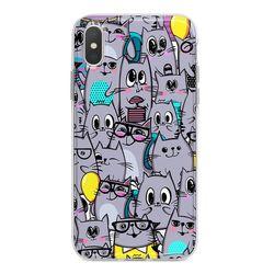 Capa para celular - Gatos Cinzas