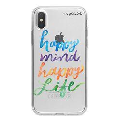 Capa para celular - Happy Mind, Happy Life
