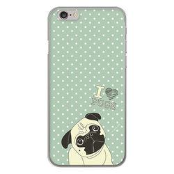 Capa para celular - I Love Pugs
