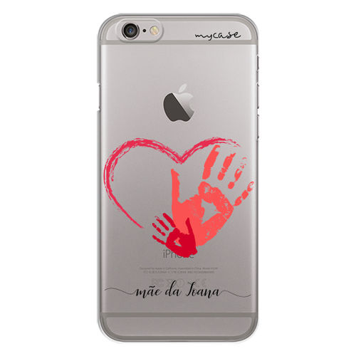 Imagem de Capa para celular - Marca de Mão Mãe e Filho | Com Nome Manuscrito