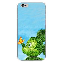 Capa para Celular - Mickey | Folhas verdes