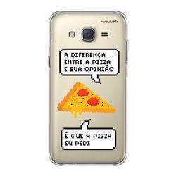 Capa para Celular - Diferença entre pizza e sua opinião