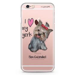 """Capa para Celular - I love my York """" nome do seu animal """""""