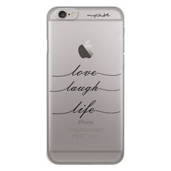 Capa para Celular - Love, Laugh, Life
