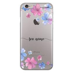 Capa para celular - Flores | Com Nome Manuscrito