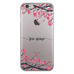 Capa para celular - Flor de Cerejeira | Com Nome Manuscrito