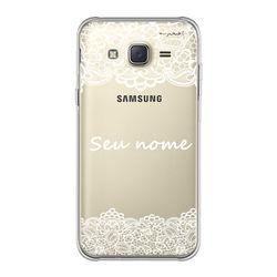 Capa para celular - Renda com nome
