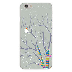 Capa para Celular - Passarinho na Neve