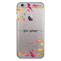 Capa para celular - Pássaros | Com Nome Manuscrito