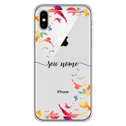 Capa para celular - Pássaros   Com Nome Manuscrito