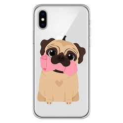 Capa para Celular - Pug   Cute
